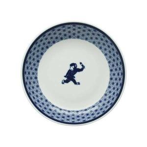 【予約商品】和食器 取り皿 日日小紋 猿中皿 一品皿 副菜皿 デザート皿 和柄 さる サル サラダ皿 和カフェ おうちCafe 和モダン おしゃれ|t-east