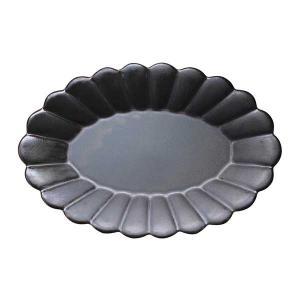 オーバルプレートL 大皿 24.5cm Poterie(ポテリエ) 赤土 ブラックワンプレート パス...