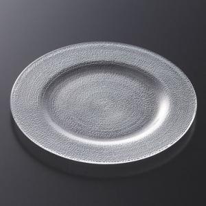 シエロ 23cmリムプレート     ガラス 盛皿 丸いお皿 プレート 中皿|t-east