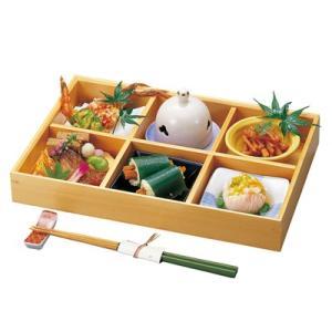 木和美 ミニ六ツ切弁当     木製 お弁当箱 おべんとうばこ ナチュラル ボックス 業務用|t-east