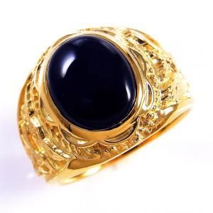 指輪 メンズ オニキス リング 大粒 ゴシックリング カレッジリング シルバー925 天然石 カボシ...