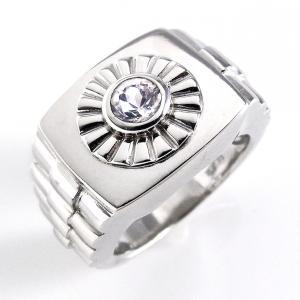 指輪 メンズ リング 印台 おしゃれ 安い 天然石 ホワイトトパーズ シルバー925