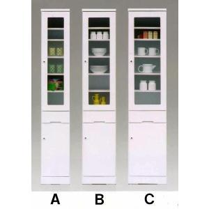 40すき間(幅410mm)I型 ホワイト色 ※Cの商品  食器棚/キッチン収納/ガラス戸  //北欧/カフェ/アジアン/和/風/OUTLET/cm//|t-f-d-c