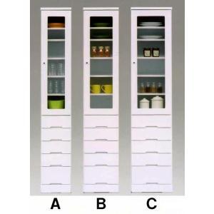 40すき間(幅410mm)II型 ホワイト色 ※Cの商品  食器棚/キッチン収納/ガラス戸  //北欧/カフェ/アジアン/和/風/OUTLET/cm//|t-f-d-c