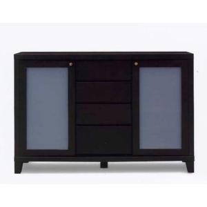 140サイドボード(幅1425mm) ブラウン色              //北欧/アジアン/風/OUTLET/カフェ/リビング/オープン//