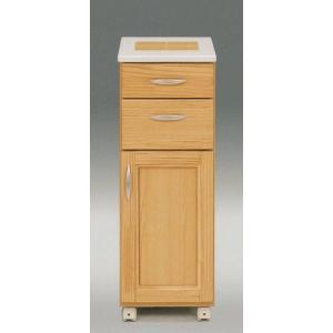 295ワゴン1枚扉タイプ(幅295mm)ナチュラル色  カウンター/キッチン収納/キャスター  //北欧/アジアン/風/OUTLET/カフェ/和/cm//|t-f-d-c