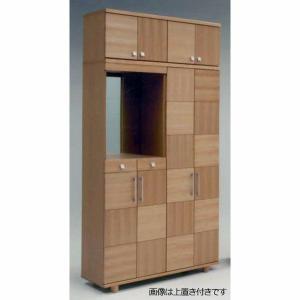 上置付き 120HシューズBOX(幅1170mm)ウォールナット・ナチュラル色       //北欧/アジアン/風/OUTLET/カフェ/収納/玄関// t-f-d-c