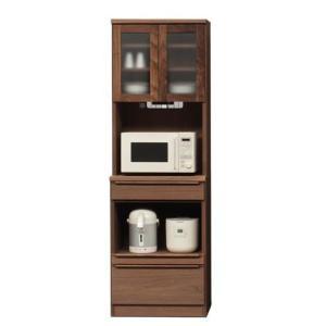 60キッチンボード(幅601m)ウォールナット   食器棚/カップ/キッチン収納/レンジラック  //北欧/カフェ/アジアン/和/風/OUTLET//