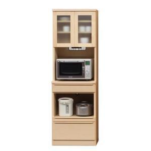 60キッチンボード(幅601m)ハードメープル  食器棚/カップ/キッチン収納/レンジラック  //北欧/カフェ/アジアン/和/風/OUTLET//