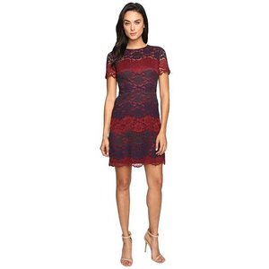Maggy London Tri-Color Lace Fi...
