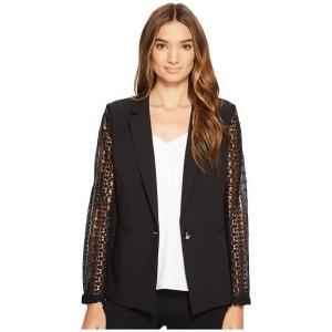XOXO Lace Contrast Jacket w/ Welt Pockets