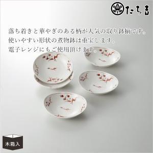 使いやすい形状の煮物鉢は重宝します。 電子レンジにもご使用頂けます。  ■商品名:たち吉 花絵 だ円...