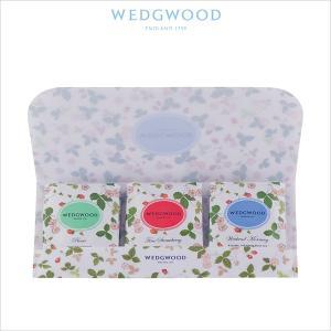 ウェッジウッドを代表する人気柄「ワイルド ストロベリー」をウォレットタイプのパッケージに入れた3種類...