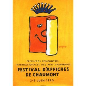 『FESTIVAL D'AFFICHES DE CHAUMONT ショーモンポスターフェスティバル 』 レイモン・サヴィニャック(Raymond Savignac) のポスター サイズ50X70cm|t-home