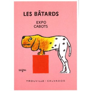 『LES BATARDS 犬の博覧会 』 レイモン・サヴィニャック(Raymond Savignac) のポスター サイズ50X70cm|t-home