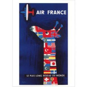 『AIR FRANCE エールフランス』 レイモン・サヴィニャック(Raymond Savignac) のポスター サイズ50X70cm|t-home