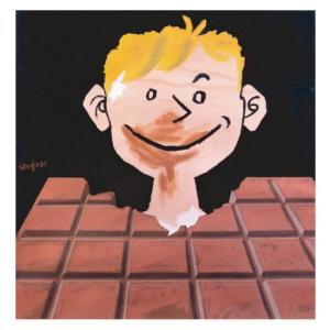 『CHOCOLAT TOBLER ショコラトブレー』 レイモン・サヴィニャック(Raymond Savignac) のポスター サイズ68X68cm|t-home