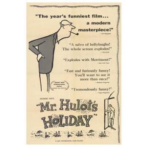 『LES VACANCES DE MONSIEUR HULOT ぼくの伯父さんの休暇(2) 』 ジャック・タチ(Jacques Tati )ポスター サイズ69X102cm|t-home