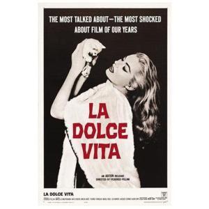 『La dolce vita 甘い生活』  フェデリコ・フェリーニ監督映画のポスター サイズ69X102cm|t-home