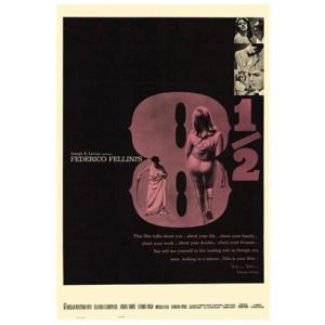 『8 1/2』  フェデリコ・フェリーニ監督映画のポスター サイズ69X102cm|t-home