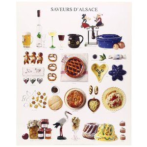 『NOUVELLES IMAGES SAVEURS D' ALSACE ヌーベルイマージュ アルザスの香り』ポスター サイズ50×40cm t-home