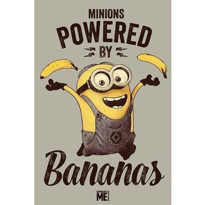 『Despicable Me Powered by Bananas 怪盗グルーの月泥棒』 ポスター サイズ91×61cm|t-home