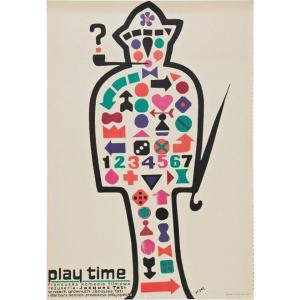 『Play Time polish Style プレイタイム (2)』 ジャック・タチ(Jacques Tati )ポスター サイズ69X102cm|t-home