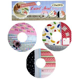 【アウトレット】スパイス CD&DVDラベルシール3柄×各2枚セット ハッピー CD&DVD SPICE Label Seal Happy|t-home