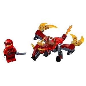 【送料無料/新品】 LEGO レゴ Ninjago ニンジャゴー 30535 カイとファイヤードラゴ...