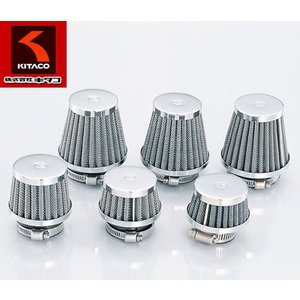 KITACO(キタコ)ノーマルキャブレター対応 汎用エアフィルター パワーフィルター(ストレート)φ35クロームメッキ【515-0000350】|t-joy