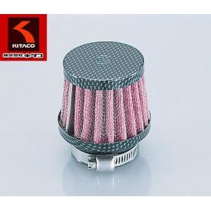 KITACO(キタコ)ノーマルキャブレター対応 汎用エアフィルター パワーフィルター(ストレート)φ35カーボンタイプ【515-0100350】|t-joy