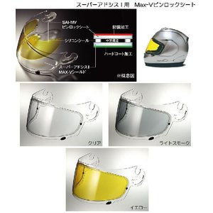 Arai(アライ) スーパーアドシスI(アイ) Max-Vシールド用ピンロックシート t-joy