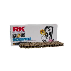 【250ccロードレースチェーン レース専用チェーン】RK ドライブチェーン GC520TRU 120L ゴールド t-joy