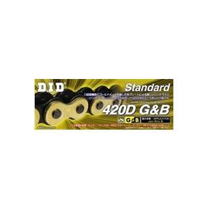 DIDチェーン 420D 110L ゴールド&ブラック RB(クリップタイプ) 346207|t-joy