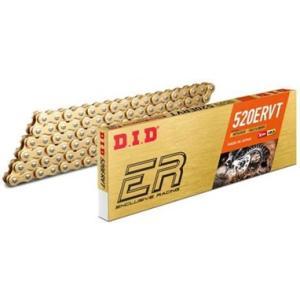 DIDチェーン 520ERVT 110L ゴールド FB(軽圧入クリップタイプ) 358200|t-joy