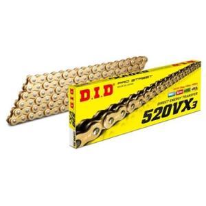 DIDチェーン 520VX3 110L ゴールド FB(軽圧入クリップタイプ)  321204|t-joy