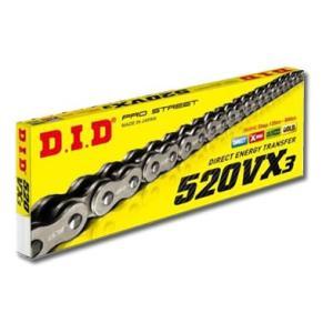 DIDチェーン 520VX3 110L シルバー ZB(カシメタイプ)   324663|t-joy