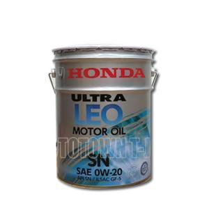 【同梱不可】 HONDA(ホンダ)純正オイル ウルトラLEO SN 20Lペール缶 0W-20SN (08217-99977)