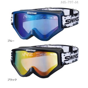 SWANS (山本光学)スワンズゴーグル 各色 MX-797-M ミラーレンズ標準装備 メガネ対応モデル ダートゴーグル|t-joy
