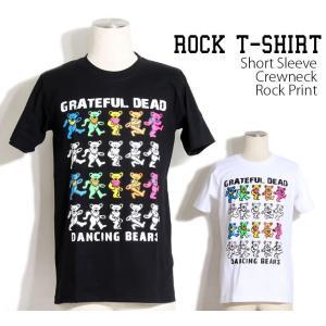 ロックtシャツ バンドTシャツ パンク The Grateful Dead グレイトフル デッド 黒...