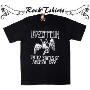 ロックtシャツ バンドTシャツ パンク Led Zeppelin レッド ツェッペリン Sサイズ M...