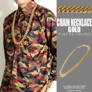 【ITEMMFORMATION】 挑発的な大ぶりな金色がかっこいいネックレスです。ストリート系では大...