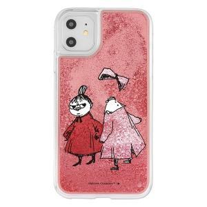 iPhone11 iphone XR ケース ムーミン ラメ グリッターケース / リトルミイとニンニ アイフォン11 アイフォンxr カバー キラキラ グリッター 父の日|t-mall-tfn