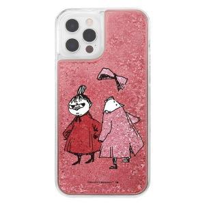 iPhone12 iphone12Pro ケース ムーミン ラメ グリッターケース / リトルミイとニンニ アイフォン12 カバー キラキラ グリッター 父の日|t-mall-tfn