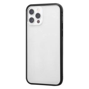 iPhone12 iphone12 Pro バンパー アルミバンパー+背面パネル(クリア) / マットブラック アイフォン12 アイフォン12pro 父の日|t-mall-tfn