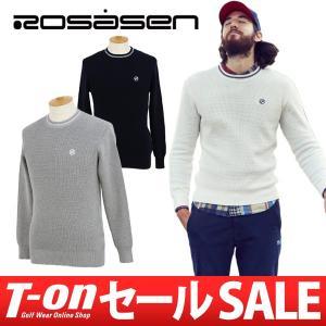 2017 秋冬 ロサーセン Rosasen クルーネックセーター ゴルフウェア メンズ|t-on