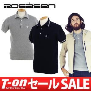 2017 秋冬 ロサーセン Rosasen 半袖ポロシャツ ゴルフウェア メンズ|t-on