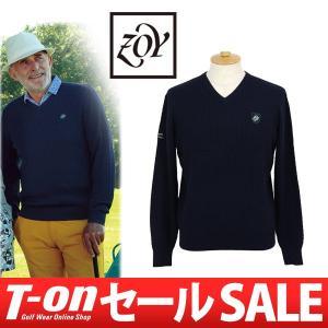 【30%OFFセール】Vネックセーター メンズ ゾーイ ZOY 2017 秋冬 新作 ゴルフウェア t-on