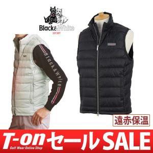 【30%OFFセール】ベスト メンズ ブラック&ホワイト Black&White 2017 秋冬 ゴルフウェア|t-on