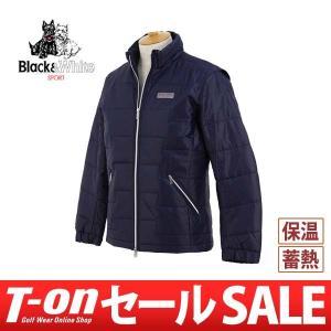 【30%OFFセール】ブルゾン メンズ ブラック&ホワイト Black&White 2017 秋冬 ゴルフウェア|t-on